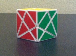 Solved axis cube!